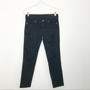 Citizens of Humanity Ripped Skinny Jeans Black 27